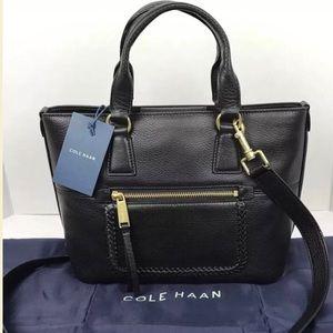 Cole Haan Celia 2 way cross body/ tote leather bag